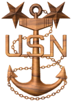 3D USN Master Chief Petty Officer MCPO Anchor