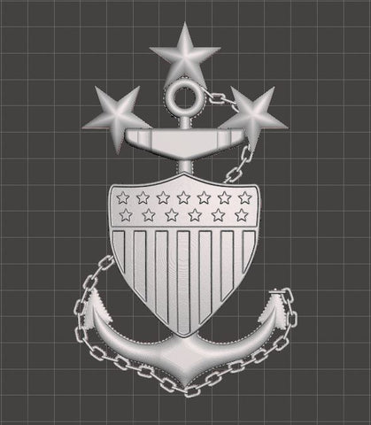 3D USCG Master Chief Petty Officer MCPOCG Anchor