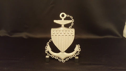 3D USCG Chief Petty Officer CPO Anchor