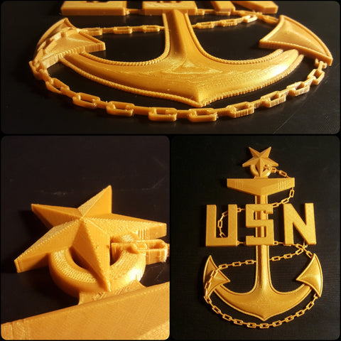 3D USN Senior Chief Petty Officer SCPO Anchor 2