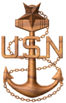 3D USN Senior Chief Petty Officer SCPO Anchor