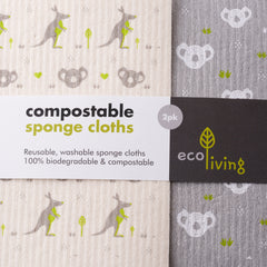 Compostable cleaning cloths