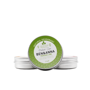Ben and Anna natural deodorant tin Persian Lime