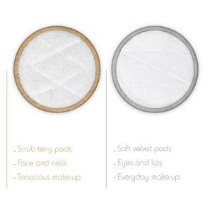 Bamboo reusable make-up wipes