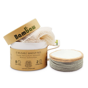 Bamboo reusable make-up wipes Pack of 10