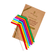 Load image into Gallery viewer, Eco-friendly reusable silicone straws