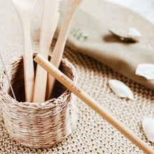 Load image into Gallery viewer, Eco friendly bamboo cutlery set