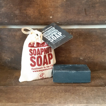 Load image into Gallery viewer, Activated charcoal soapnut soap