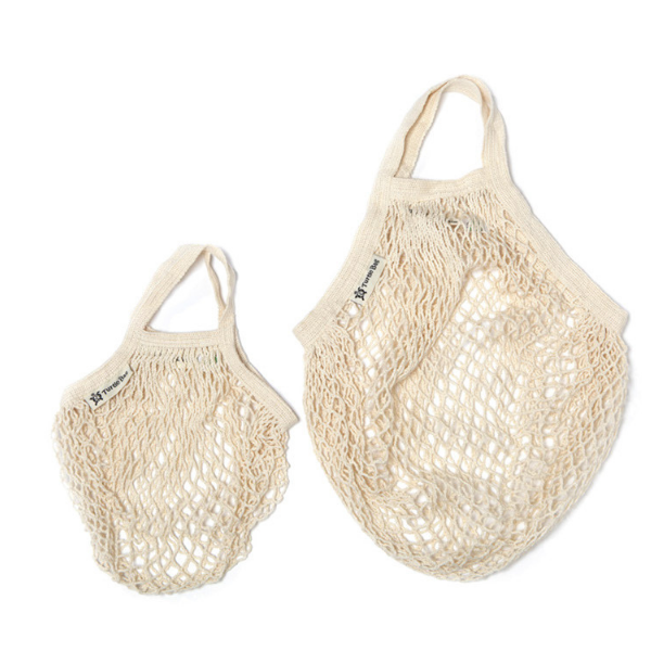 Adult and child string bag natural