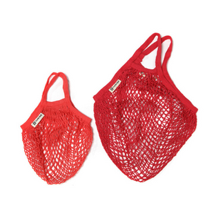 Adult and child string bag red