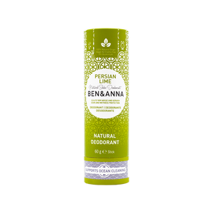 Ben and Anna natural deodorant in paper tube Persian Lime