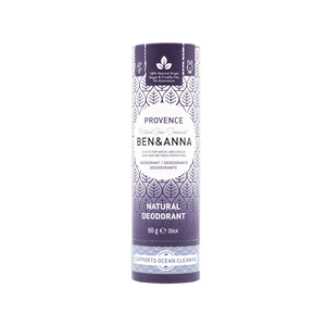 Ben and Anna natural deodorant in paper tube Provence