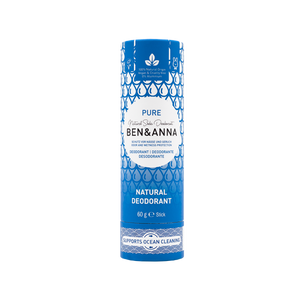 Ben and Anna natural deodorant in paper tube Pure