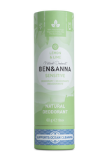 Load image into Gallery viewer, Ben and Anna natural deodorant Sensitive Lemon and lime