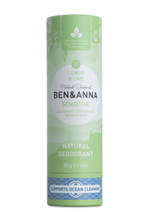 Ben and Anna natural deodorant Sensitive Lemon and lime