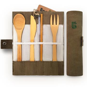 Eco friendly bamboo cutlery set