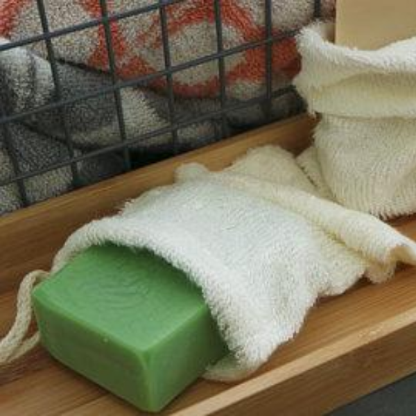 Eco-friendly bamboo soap bag with soap
