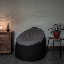 Load image into Gallery viewer, Eco-friendly bean chair Pebble and orca