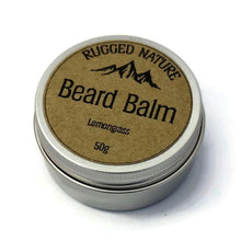 Load image into Gallery viewer, Rugged Nature eco friendly beard balm lemongrass