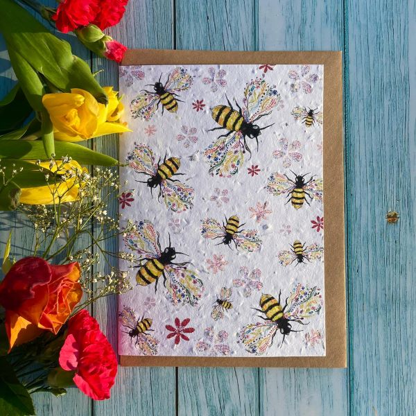 Seeded card Bee Friendly