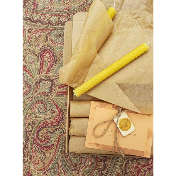 Beeswax rolled candle set