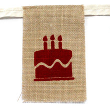 Load image into Gallery viewer, Natural jute bunting birthday