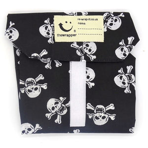 Skull and crossbones sandwich wrapper