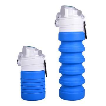 Collapsible bottle blue