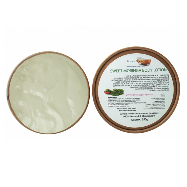 Eco-friendly body lotion sweet moringa