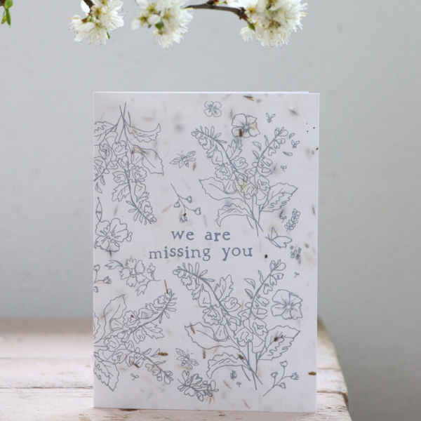 Eco seeded card missing you