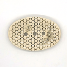Load image into Gallery viewer, Ceramic soapdish Bee Oval grey