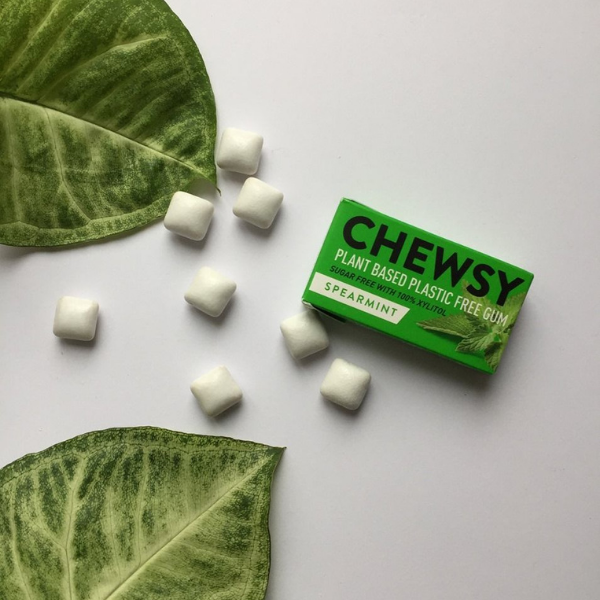 Plastic-free chewing gum spearmint