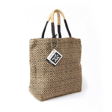 Load image into Gallery viewer, Jute bag diamond tote