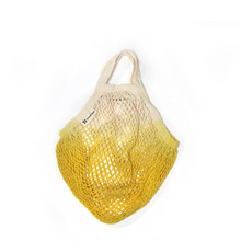 Load image into Gallery viewer, Dip dyed string bag  yellow