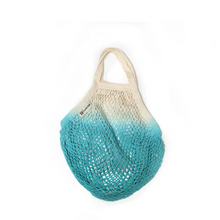 Load image into Gallery viewer, Dip dyed string bag aqua