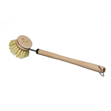 Load image into Gallery viewer, Wooden dish brush with replaceable head
