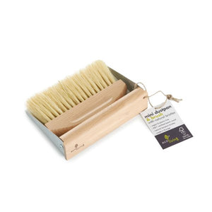Mini eco-friendly dustpan and brush