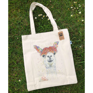 Lily the Llama eco tote bag