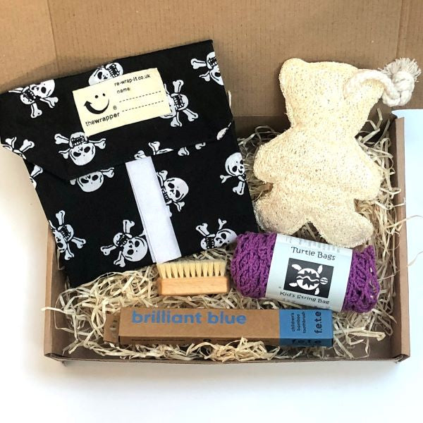 Eco-friendly kid's gift set Skull and crossbones