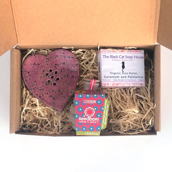Eco love soap gift set Pink