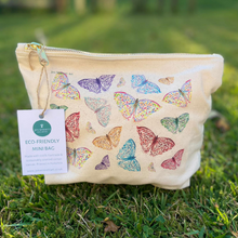 Load image into Gallery viewer, Eco mini wash bag Butterflies