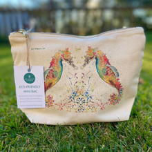 Load image into Gallery viewer, Eco mini wash bag Seahorses