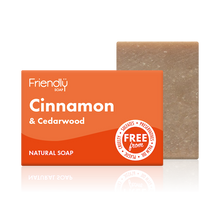 Load image into Gallery viewer, Friendly Soap soap bar Cinnamon and cedarwood