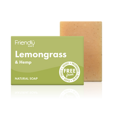 Load image into Gallery viewer, Friendly Soap soap bar Lemongrass and hemp