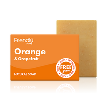 Load image into Gallery viewer, Friendly Soap soap bar Orange and grapefruit