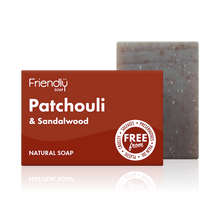 Load image into Gallery viewer, Friendly Soap soap bar Patchouli and sandalwood