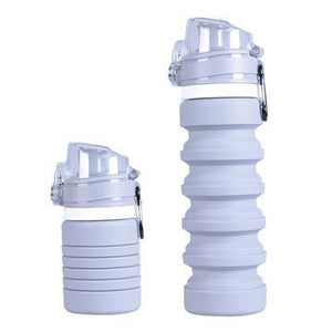 Collapsible bottle grey