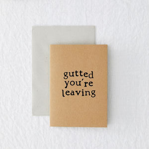 Eco-card leaving - 'Gutted you're leaving'