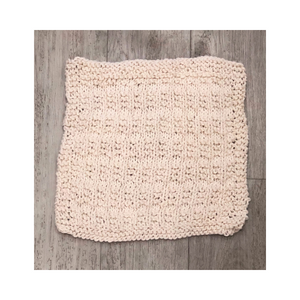 Hand knitted dishcloth natural patterned