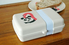Load image into Gallery viewer, Eco friendly bamboo lunchbox flamingo